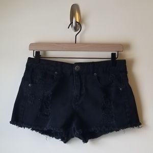 Mudd Shorts - Distressed Black Short by Mudd